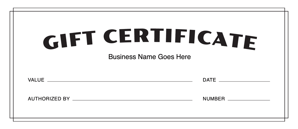 Choose A Certificate:  Business Gift Certificate Template Free