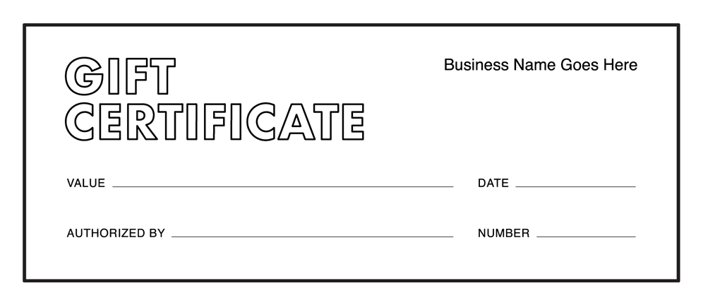 Gift Certificate Templates Download Free Gift Certificates Square - Gift registry card template free