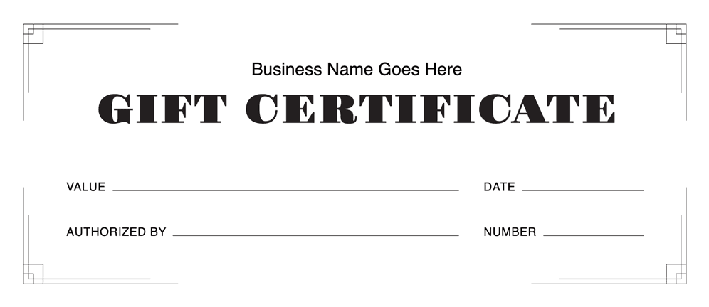Gift Certificate Templates Download Free Gift Certificates Square - Numbered gift certificate template
