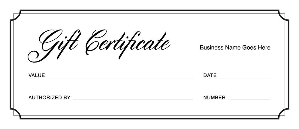 Gift Certificate Templates Download Free Gift Certificates Square - Downloadable gift certificate template
