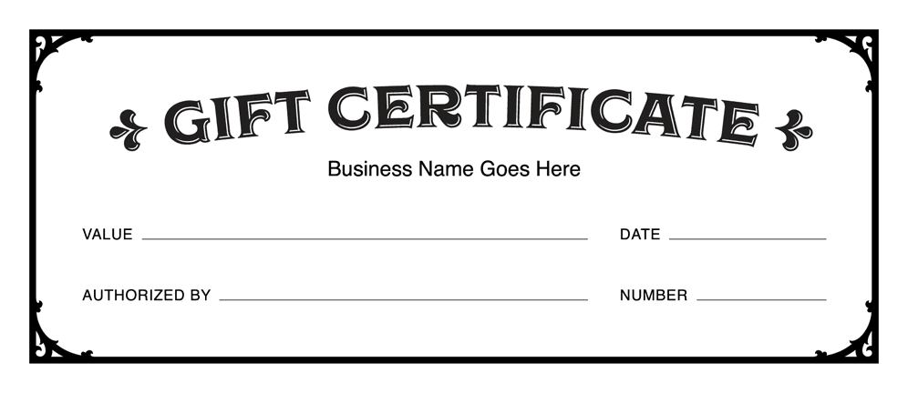 Download PDF  Free Gift Certificate Template